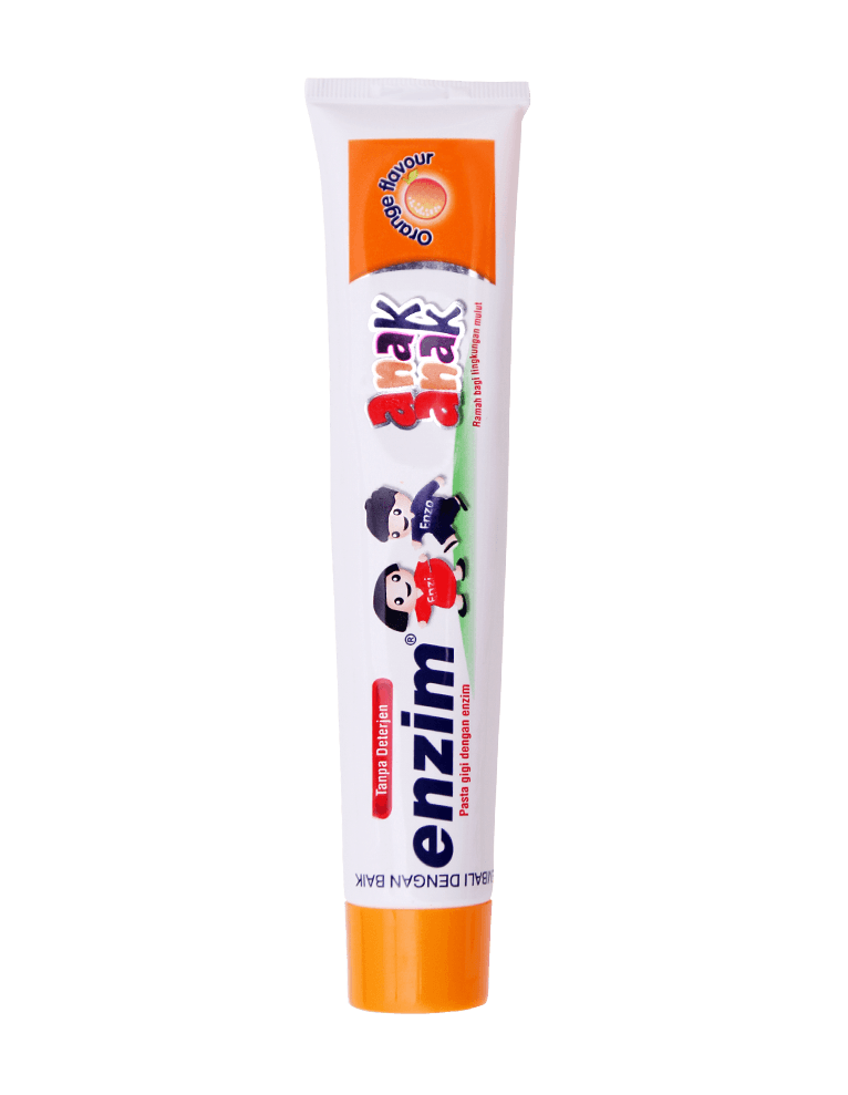 Pasta gigi enzim anak anak orange flavour