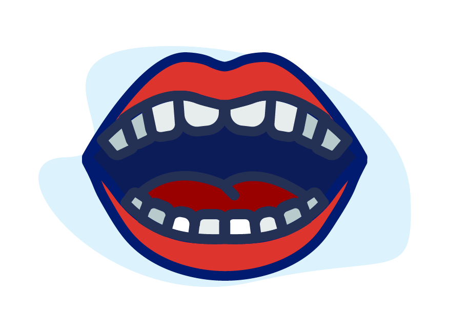 Healthy mouth and teeth